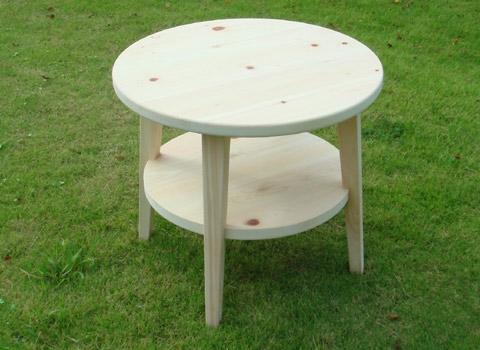 ひのき丸テーブル サイドテーブル