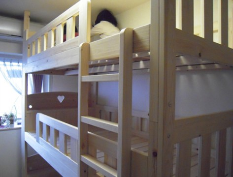 三段ベッドの取り付け完成