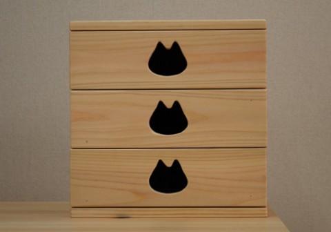 猫マークの家具