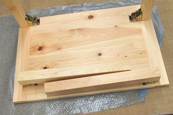 ひのき折りたたみのテーブルと イス1301056