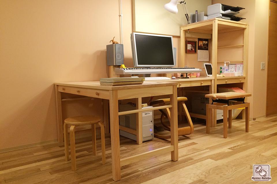 ひのき机 3台目