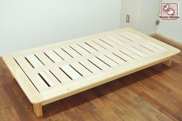 ひのきベッド ジュニアサイズの寝具サイズ