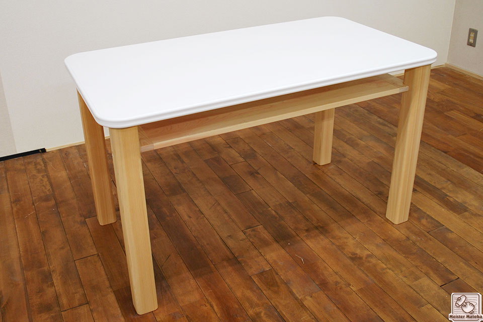 奥行65センチのテーブル 脚と中板の取り付け 【お客様の声】