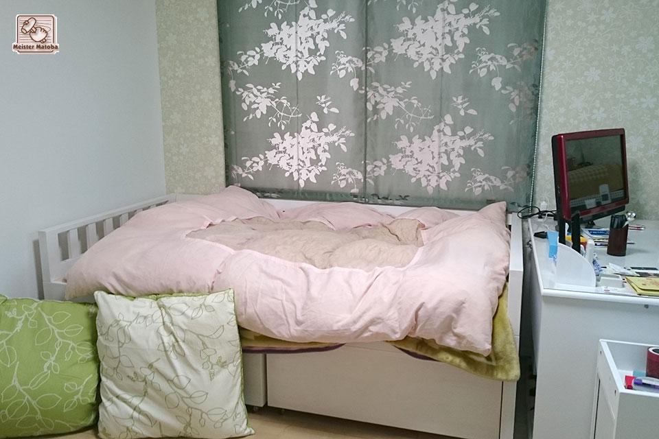 ソファーにも使えるひのきオーダーベッド