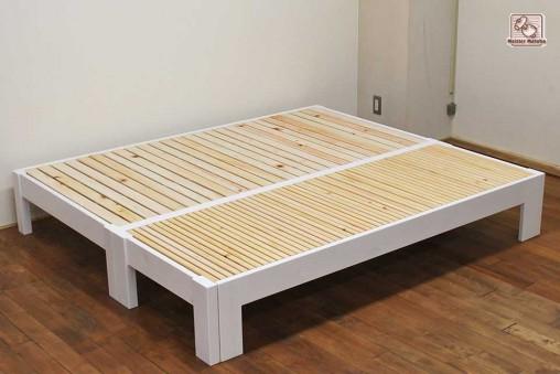 シングルベッドと伸縮ベッド