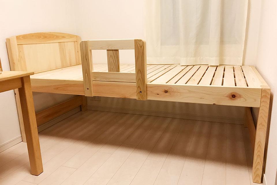寝台高さ62センチベッド下50センチの空間のベッド購入のお客様より