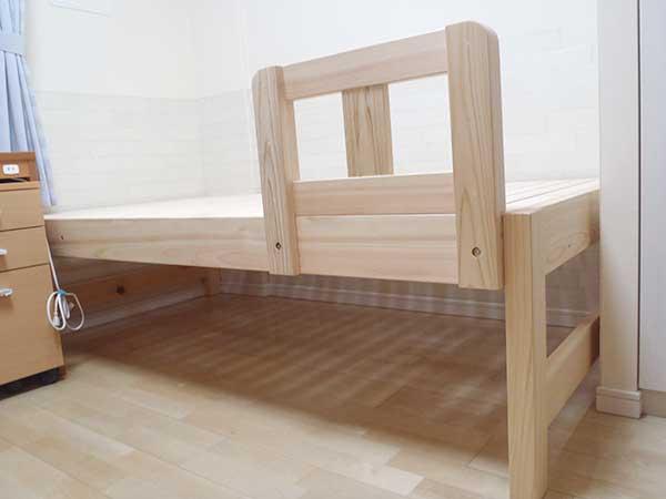 ひのきベッド 補強付き柵