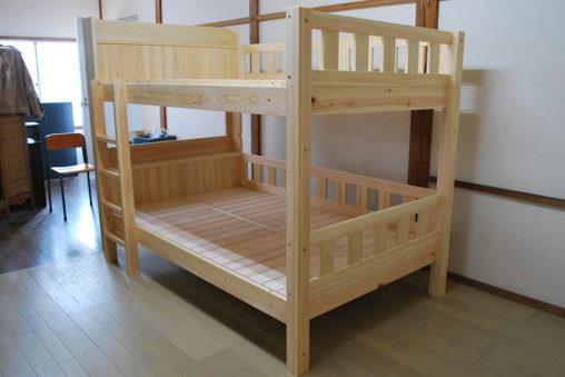 ひのきセミダブル二段ベッド