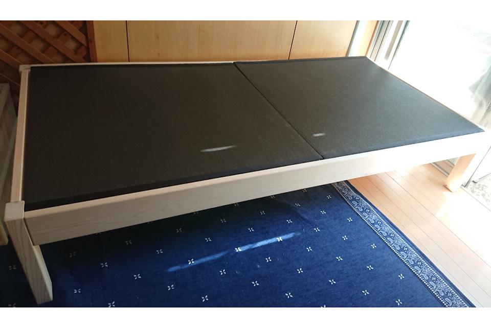 ひのきベッドの畳ベッド 畳おもて和紙栗色 1806039