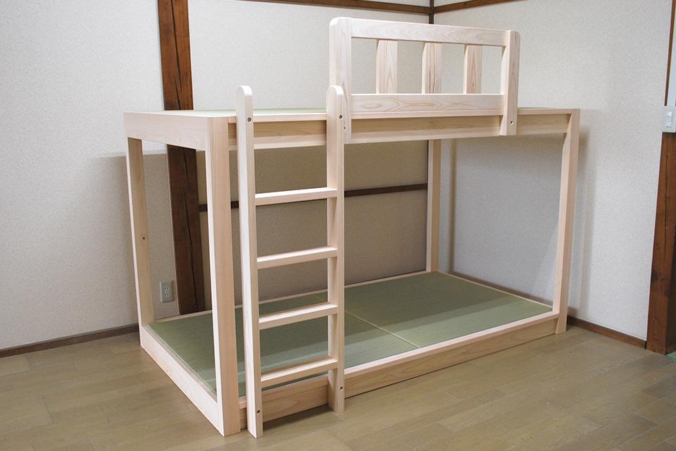 畳の二段ベッドと伸縮ベッド購入のお客様の声 1810015
