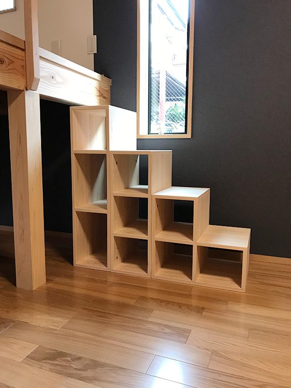 ひのきボックス式階段