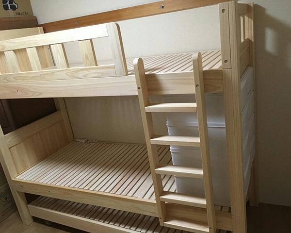 ひのき二段ベッド三段ベッド