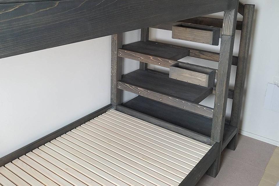 階段付き二段ベッドを購入のお客様の声