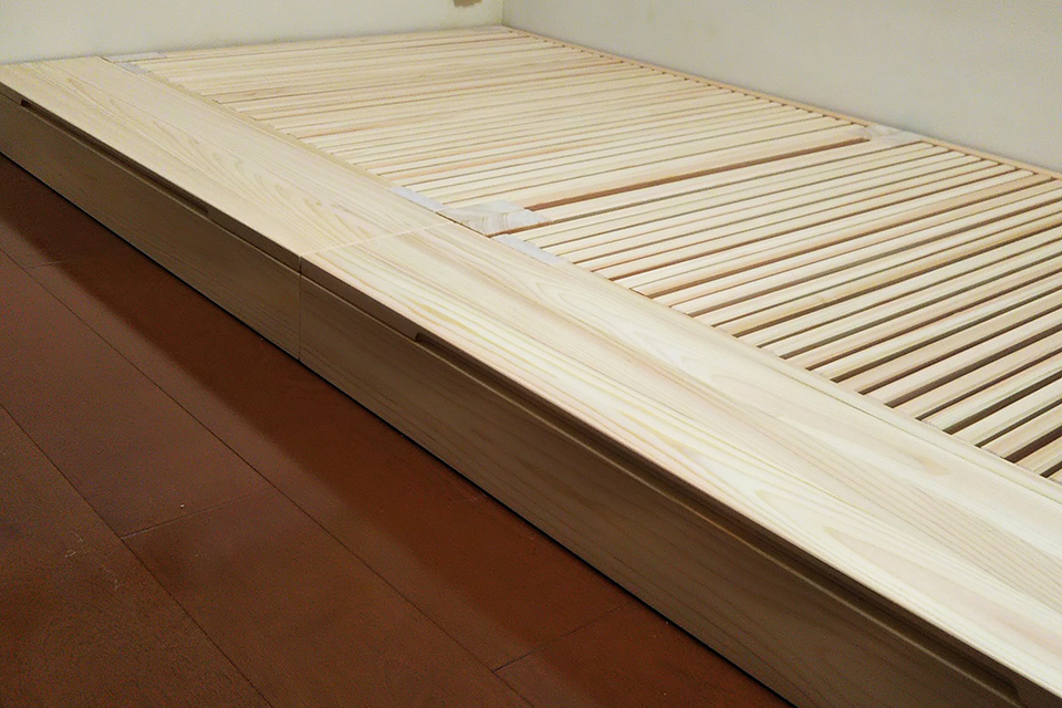 出来るだけ低いベッドと収納BOX と 継足付き NO1908033