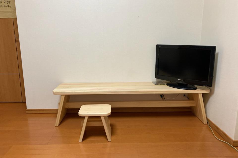 幅170cmのテレビ台とおそろいの椅子