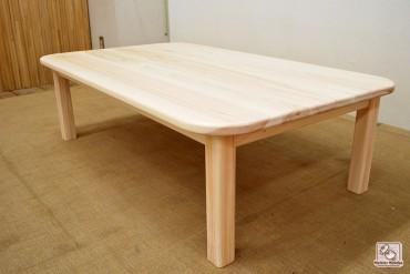 ひのきちゃぶ台 小机 節無しテーブルNO1402029