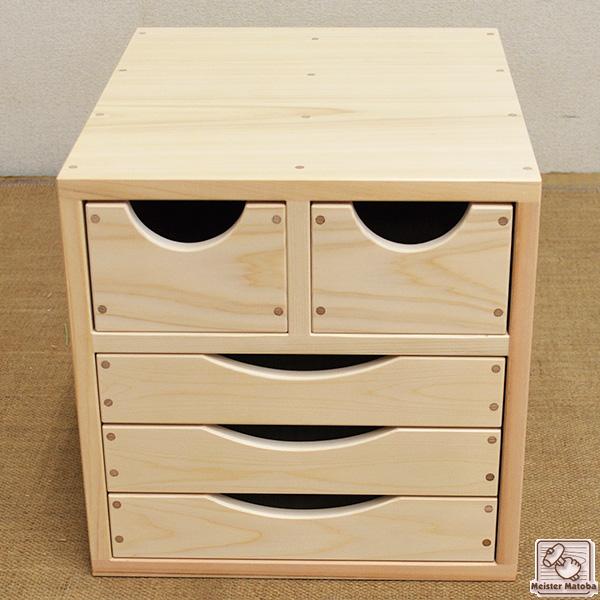 無垢ひのき書類収納箱