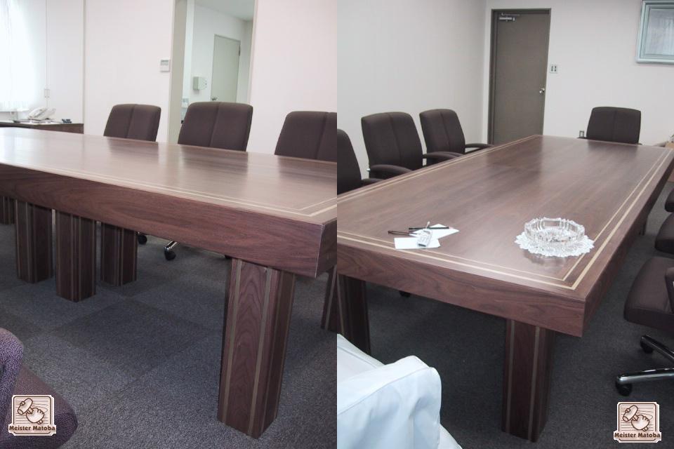 ウォールナットオーダー会議テーブル