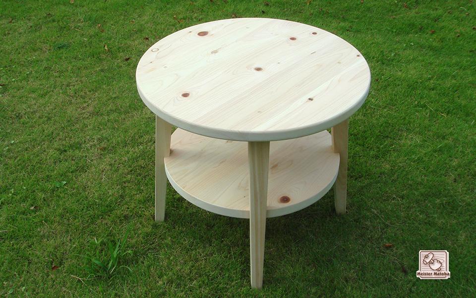 丸いテーブル 花台