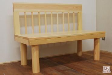 ひのき木製椅子 背もたれ付き NO1412018