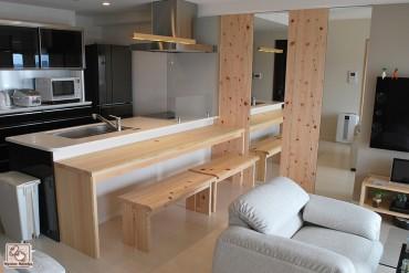 新築マンション ショールームみたいに鏡貼り 201502T
