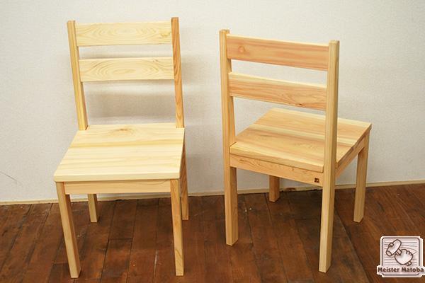 ひのきイス・学童椅子