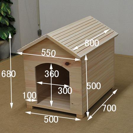 ひのき犬小屋サイズ例