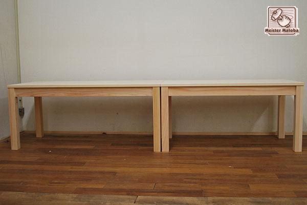 ひのき縁台ベンチイス、サイズ座面奥行50cmで隙間無し