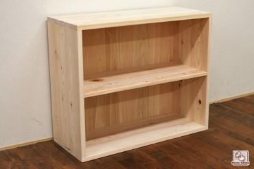 無垢ひのき本棚幅84cm高さ70cmシンプルな本棚 NO1510027
