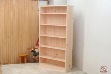 無垢ひのき本棚 オープン棚 NO0809026