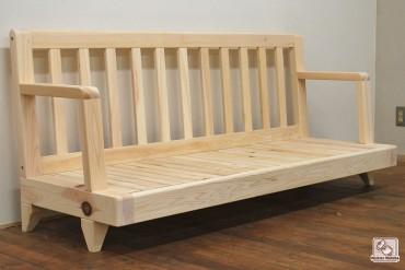 無垢ひのき木製ソファー no1511042