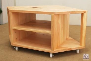 無垢ひのきコーナー家具、角に設置棚 no1110004