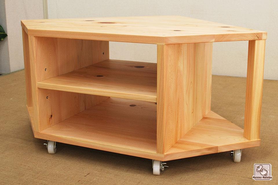 無垢ひのきコーナー家具