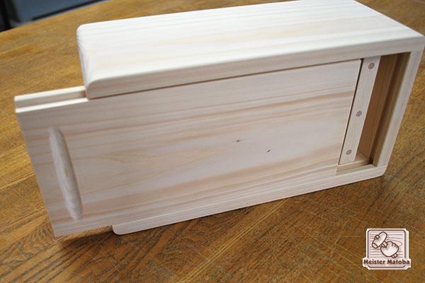 優しい感じの、ひのき木製ティシュケース