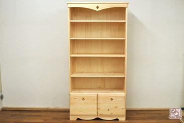 無垢ひのき木製本棚 飾り加工 ダイヤのくり貫きNO1602016-1
