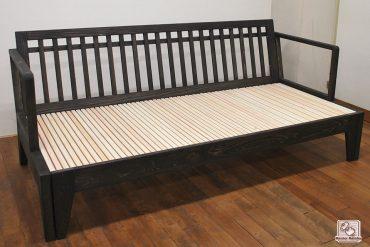 無垢ひのき木製ソファー ベッドにもなります。NO1602016