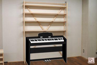 ひのき組立シェルフ棚 電子ピアノの上に NO1602030