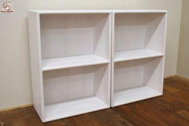 健康塗料の白色仕上げのひのきカラーボックス幅50cm NO1607003