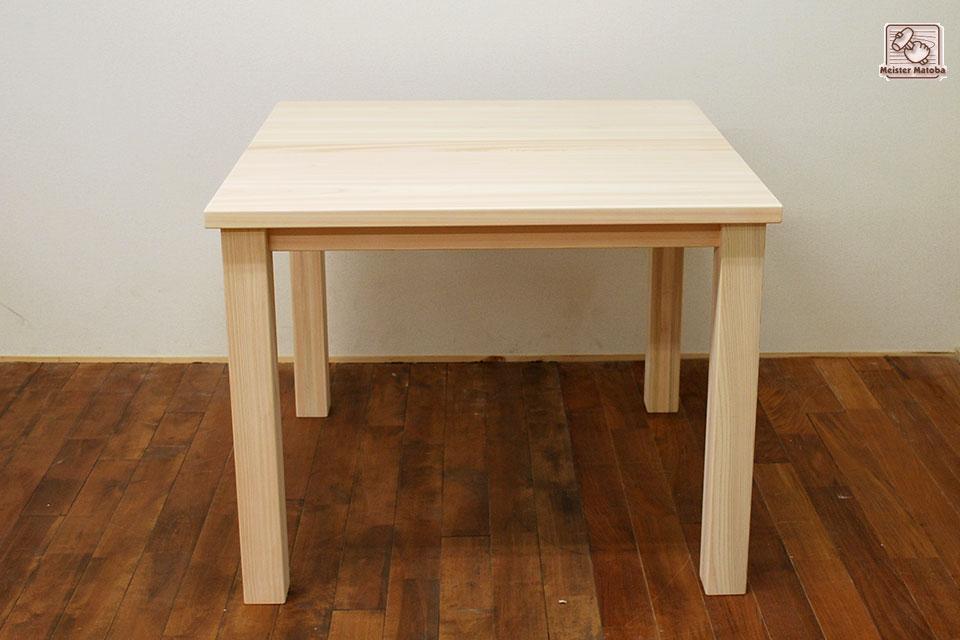 90×90 90cm角の無垢ひのき食堂テーブル