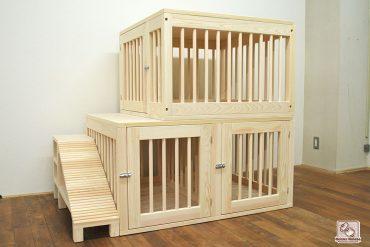 3匹用2階建てペットハウス 大きな犬小屋NO1701026