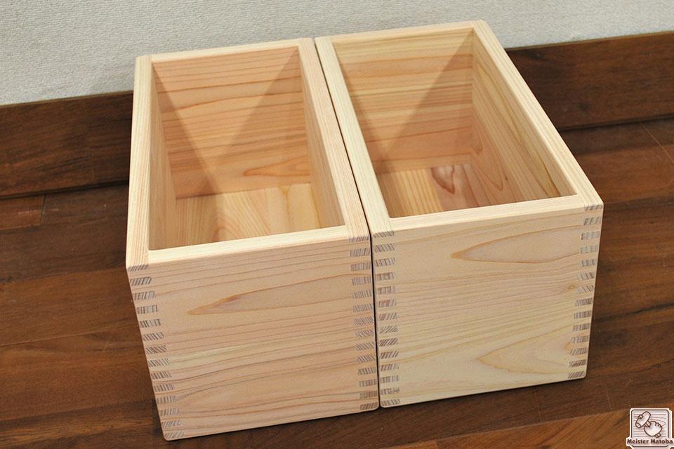 無垢ひのき木の小箱