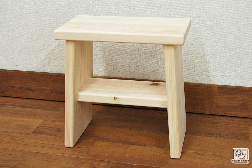 ひのき踏み台、風呂椅子