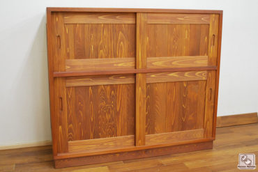 無垢ひのき食器棚 チェスナット色に着色 家電ラックサイズ NO1705015