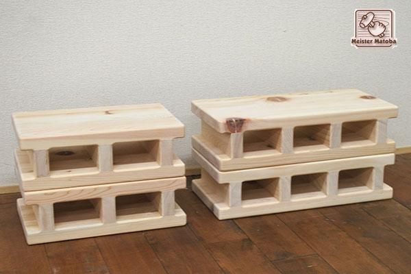 木製ひのきブロック