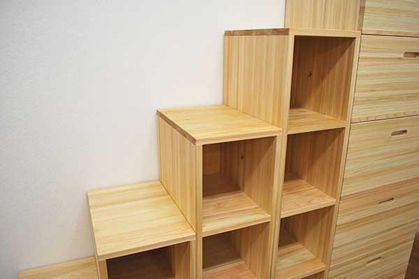 ひのきオーダー階段家具
