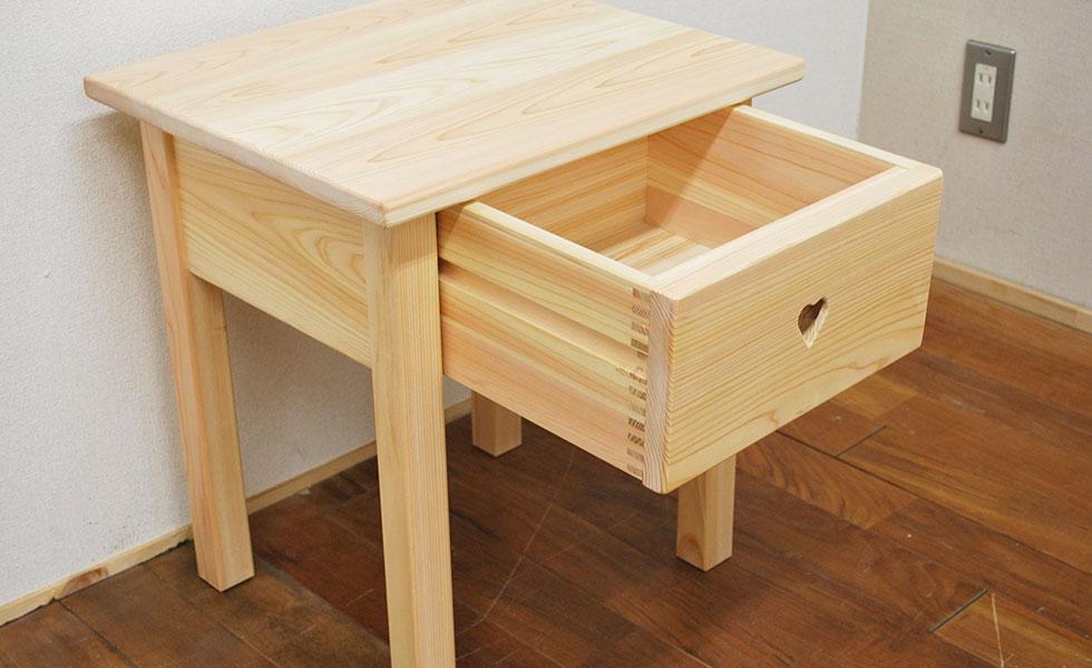 ひのきサイドテーブル ナイトテーブル