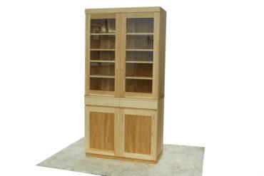 無垢タモ材の食器棚幅99cm NO0710026