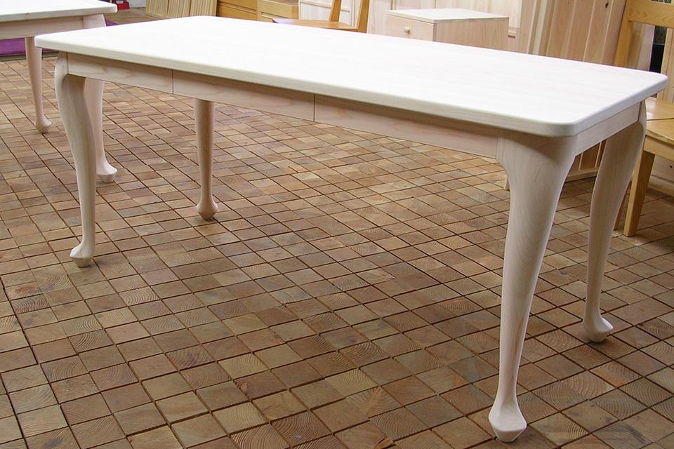 無垢ひのき猫足のテーブル 机 041210