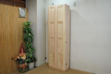 ひのき折れ戸の収納棚 幅62cm NO1212037