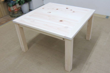 無垢ひのき75cm角の座卓テーブル こたつ 1102032